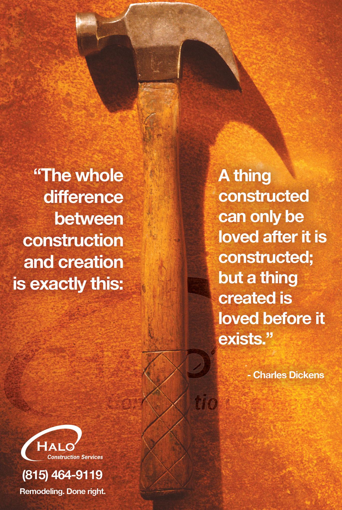 The difference between construction and creation
